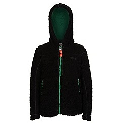 Regatta - Boys Black high roller full zip fleece
