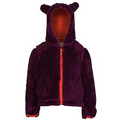 Regatta - Girls Blackcurrant cutiepie hodded fleece