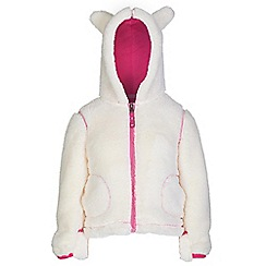Regatta - Girls Polar bear white cutiepie hodded fleece