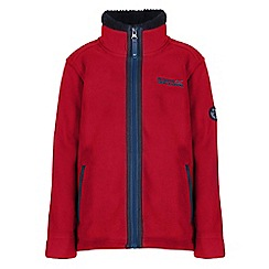 Regatta - Boys Pepper red basher full zip fleece