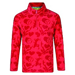 Regatta - Kids Pink 'lovely jubblie' printed fleece