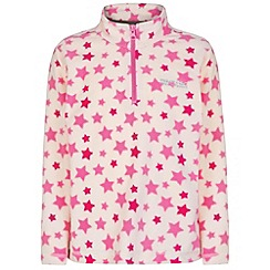 Regatta - Girls White Lovely jubblie half zip fleece