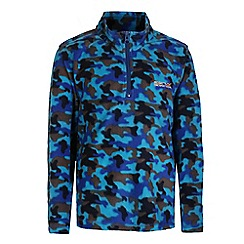 Regatta - Boys Camo blue lovely jubblie half zip fleece