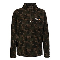 Regatta - Boys Camo green lovely jubblie half zip fleece