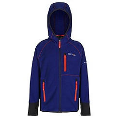 Regatta - Girls Purple whinfell full zip fleece