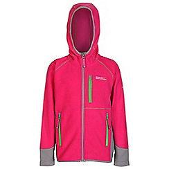 Regatta - Girls Pink whinfell full zip fleece