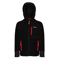 Regatta - Boys Black whinfell full zip fleece
