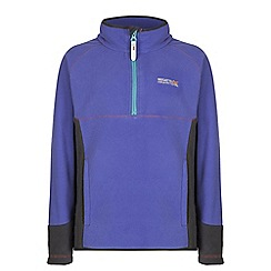 Regatta - Girls Purple whinfell half zip fleece