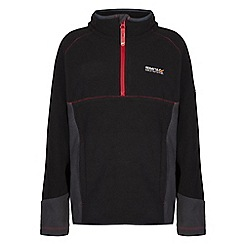 Regatta - Boys Black whinfell half zip fleece