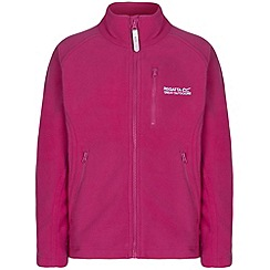 Regatta - Girls Pink marlin fleece jacket