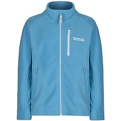 Regatta - Girls Bright blue marlin fleece jacket