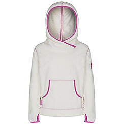 Regatta - Girls White jafar fluffy fleece