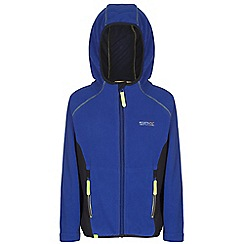 Regatta - Boys Blue / grey whinfell full zip hooded fleece