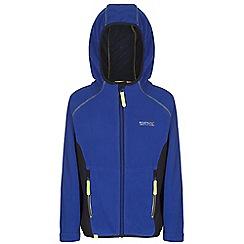 Regatta - Boys Blue / grey whinfell full zip hooded fleece