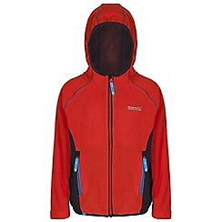 Regatta - Boys Orange / grey whinfell full zip hooded fleece