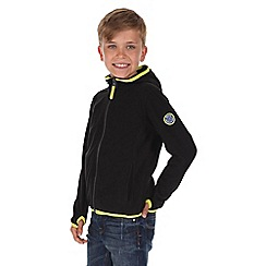 Regatta - Boys Black frollo hooded fleece