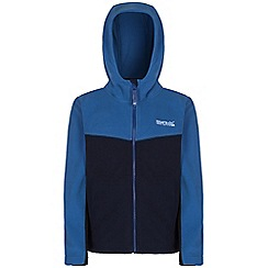 Regatta - Boys Blue marty symmetric hooded fleece
