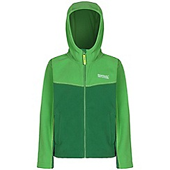 Regatta - Boys Bright green marty symmetric hooded fleece