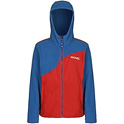 Regatta - Boys Blue mazer zip up hooded fleece