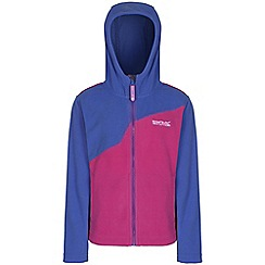 Regatta - Girls Pink mazer zip up hooded fleece