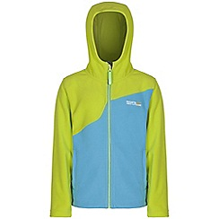 Regatta - Girls Lime green mazer zip up hooded fleece
