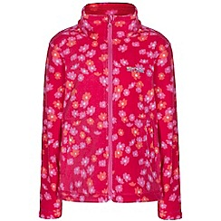 Regatta - Girls Pink tycoon floral print fleece