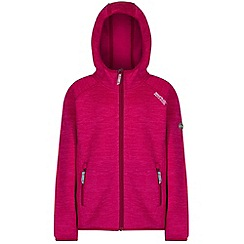 Regatta - Kids Pink Dissolver hooded fleece