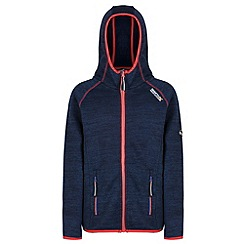 Regatta - Kids Navy Dissolver hooded fleece