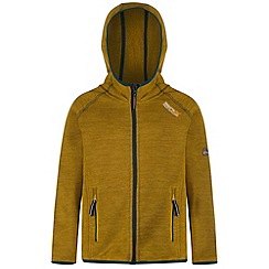 Regatta - Kids Yellow Dissolver hooded fleece