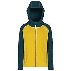 Regatta - Kids Yellow Upflow hooded fleece