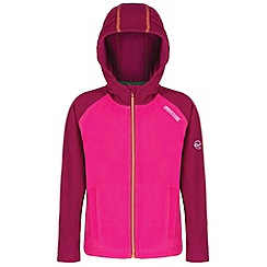 Regatta - Kids Pink Upflow hooded fleece