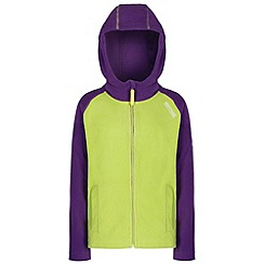Regatta - Kids Purple Upflow hooded fleece