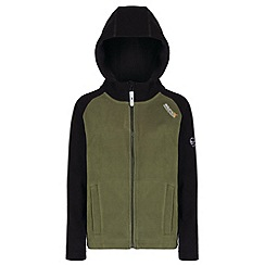 Regatta - Kids Green Upflow hooded fleece