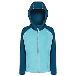 Regatta - Kids Blue Upflow hooded fleece