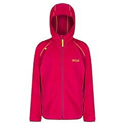 Regatta - Girls' pink Chromium fleece jacket