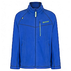 Regatta - Boys' blue Marlin fleece jacket