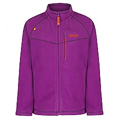 Regatta - Girls' purple Marlin fleece jacket