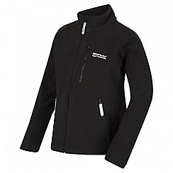 Regatta - Boys' black Marlin fleece jacket