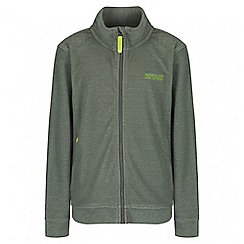 Regatta - Boys' green Harlin fleece jacket