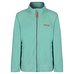 Regatta - Girls' mint green Harlin fleece jacket