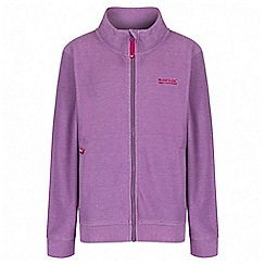 Regatta - Girls' purple Harlin fleece jacket