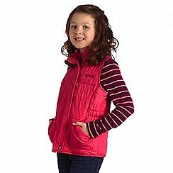 Regatta - Kids Pink jookiba quilted bodywarmer