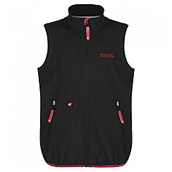 Regatta - Boys' black Kaluga zip up bodywarmer