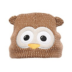 Regatta - Brown - owl kids viva animal hat