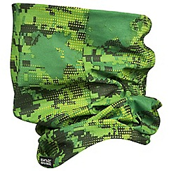 Regatta - Kids Green printed multitube scarf