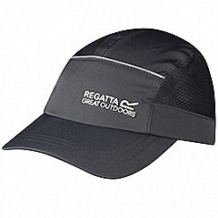 Regatta - Kids Grey shadie adjustable sports cap