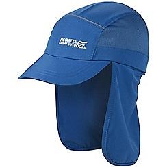 Regatta - Kids Blue sun protector cap
