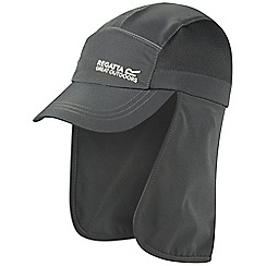 Regatta - Kids Grey sun protector cap