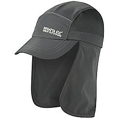 Regatta - Kids Grey sun protector cap