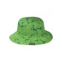 Regatta - Kids Green Cruze reversible sun hat